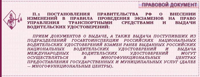 п.1 Постановления правительства РФ о внесении именений в правила